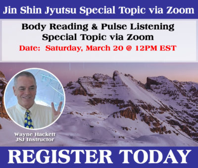 Body Reading and Pulse Listening - Begins March 20th